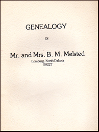 Genealogy og Mr. and Mrs. B. M. Melsted # 17788