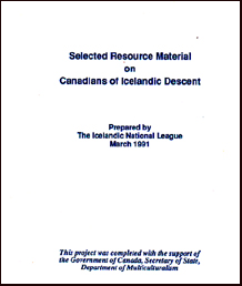Selected resource material on Canadians of Icelandic descent # 18314