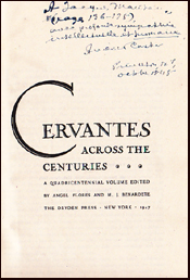 Cervantes across the Centuries # 18350