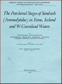 The post-larval stages of sand-eels (Ammodytidae) in Faroe, Iceland and W-Greenland waters # 21901