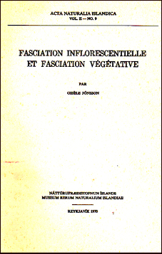 Fasciation inflorescentielle et fasciation végétative