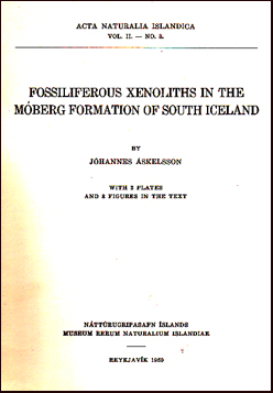 Fossiliferous xenoliths in the móberg formation of South Iceland