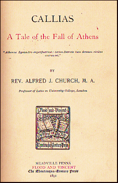 Callias. A Tale of the Fall of Athens # 22391