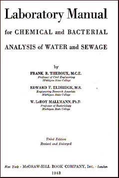 Laboratory Manual for Chemical and Bacterial # 22673