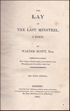 The Lay of the Last Minstrel # 27428