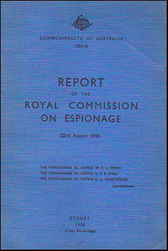 Report of the Royal Commission on Espionage # 27775