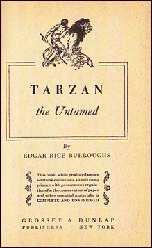 Tarzan the Untamed # 29909