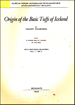 Origin of the Basic Tuffs of Iceland # 30454