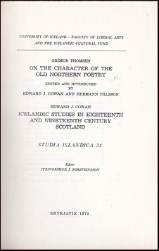 On the character of the old Northern poetry # 30520