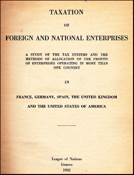 Taxation of Foreign and National Enterprises # 30905