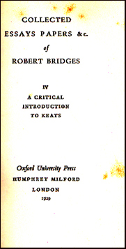 Collected Essays Papers &c of Robert Bridges # 31850