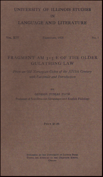 Fragment AM 315 E of the older Gulathing law # 35269