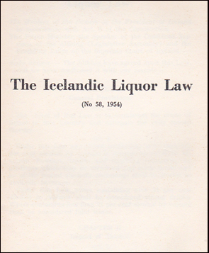 The Icelandic Liquor Law # 35422