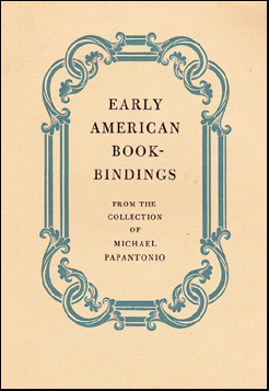 Early American Bookbindings # 31949