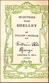 Selections from Shelley # 39458