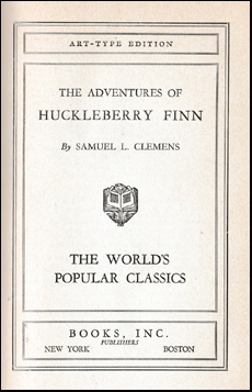 The Adventures of Huckleberry Finn # 40818