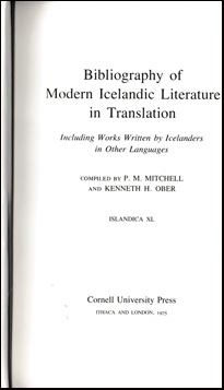 Bibliography of modern Icelandic literature # 41182