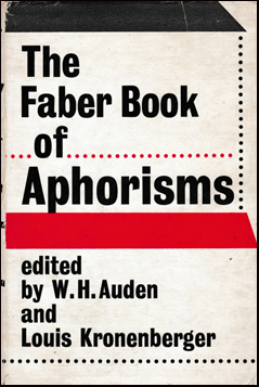 The Faber book of Aphorisms # 41523