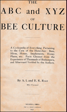 The ABC and XYZ of Bee Culture # 41781