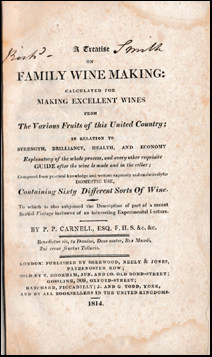 A Treatise on Family Wine Making # 42168