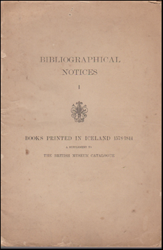 Books Printed in Iceland 1578-1844 # 42903