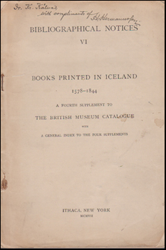 Books printed in Icaland 1578-1844 # 42904