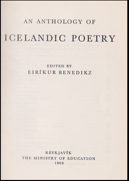 An Anthology of Icelandic Poetry # 44079