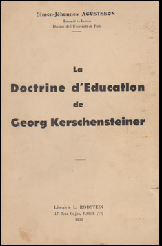 La doctrine d'éducation de Georg Kerschensteiner # 44394