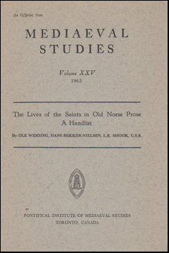 The Lives of the Saints in Old Norse Prose. A handlist # 47845