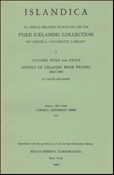 History of Icelandic prose writers # 50649