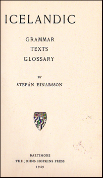 Icelandic. Grammar, texts and glossary # 53814