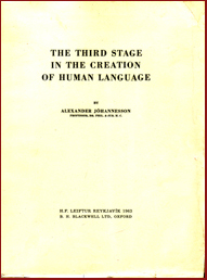 The third stage in the creation of human language # 4192