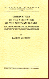 Observations on the vegetation of the Westmann Island