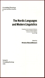 The nordic languages and modern linguistics # 14118