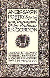 Anglo-Saxon Poetry Selected and Translated by Professor R. K. Gordon # 17202