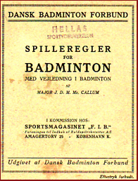 Spilleregler for Badminton # 11351