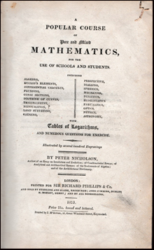 A popular course of pure and mixed mathematics # 41559