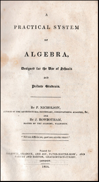 A Practical System of Algebra # 41974