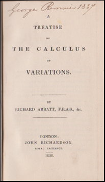 A Treatise of the Calculus of Variations # 48114