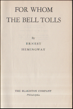 For Whom the Bell Tolls # 55753