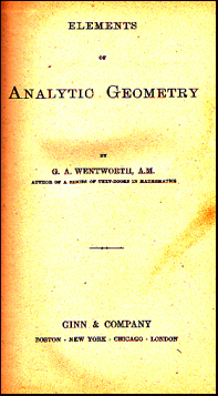 Elements of Analytic Geometry # 20328